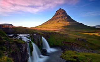 Бесплатные фото горы,река,водопад,камни,небо,облака,природа