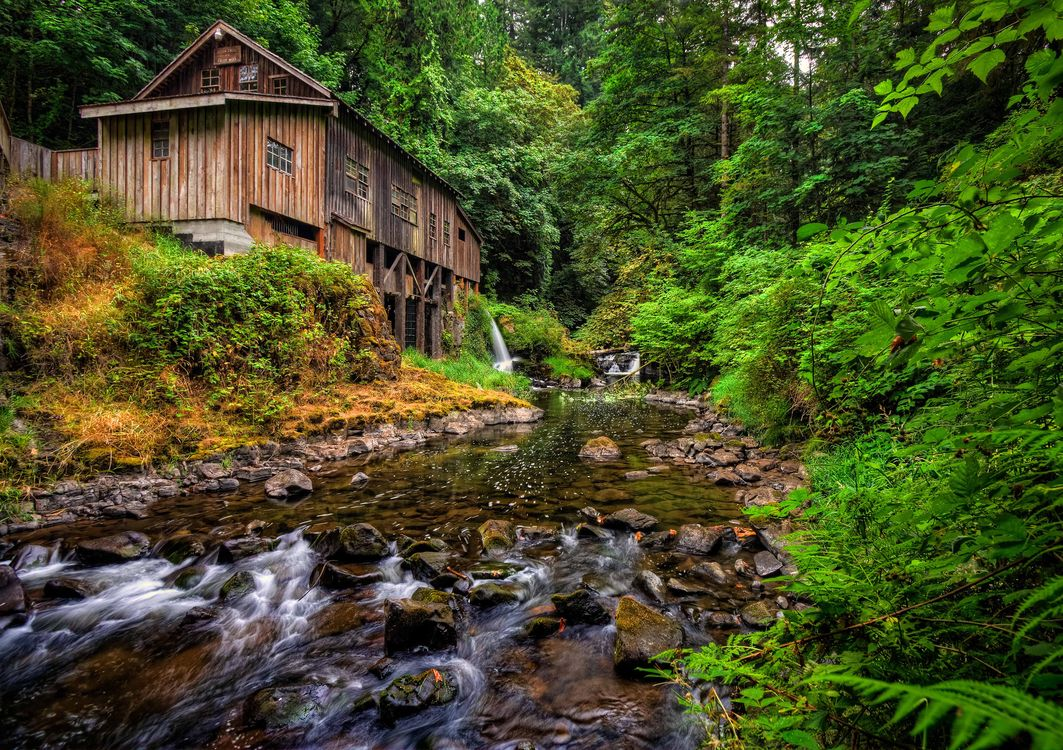 Фото бесплатно Cedar Creek Grist Mill, Woodland, Washington - на рабочий стол