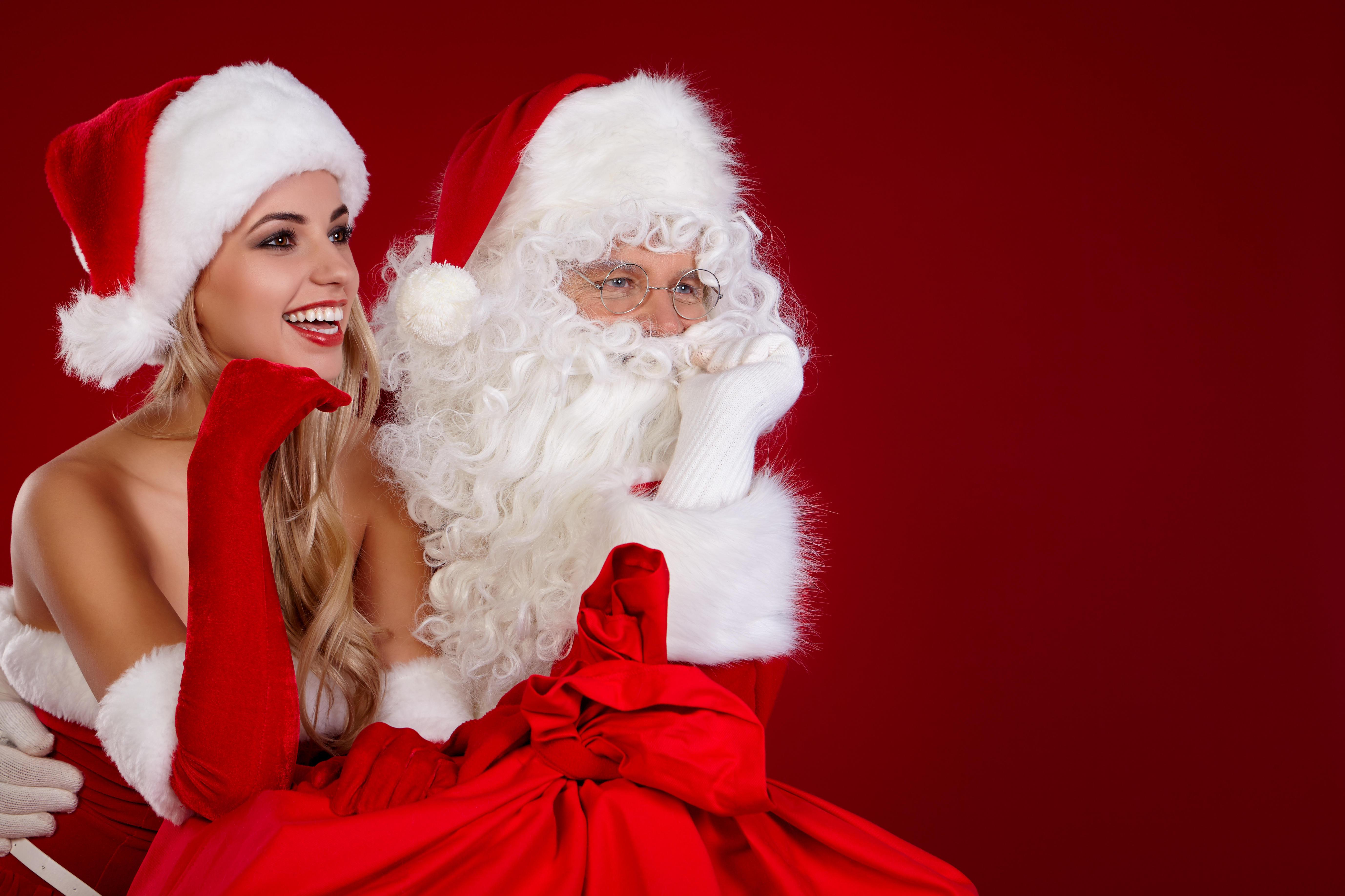 обои новогодние обои, снегурочка, дед мороз, с новым годом картинки фото