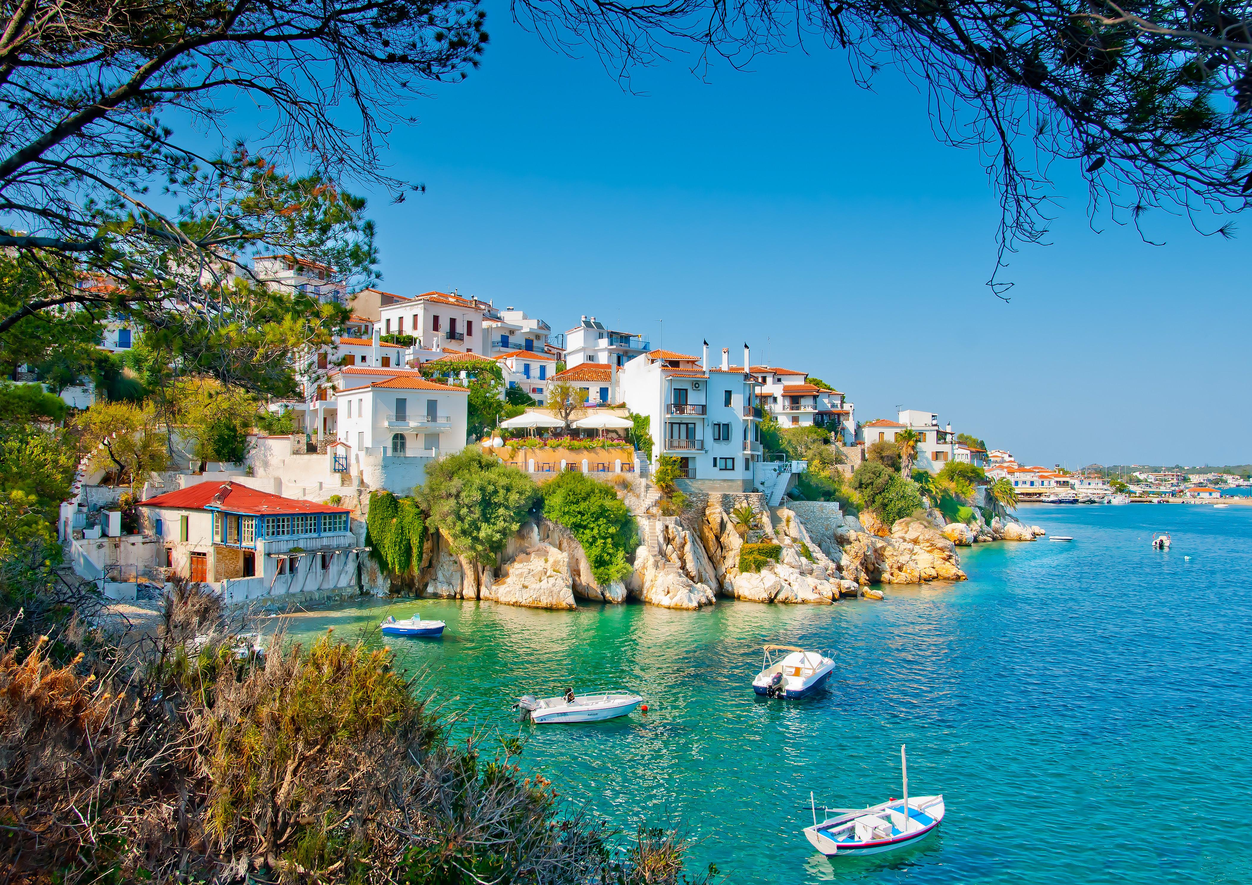 обои Скиатос, Греция, Скиатос остров в Эгейском море картинки фото