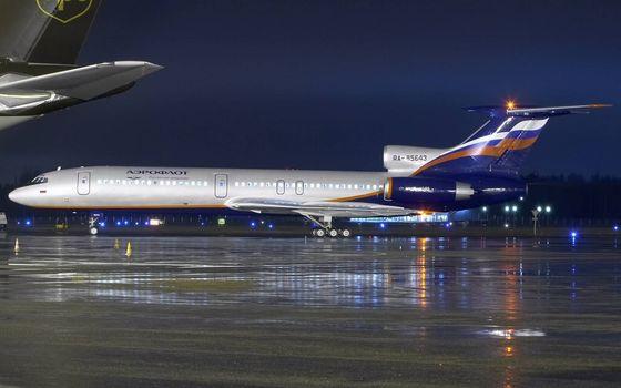 Фото бесплатно ночь, самолет, пасажирский