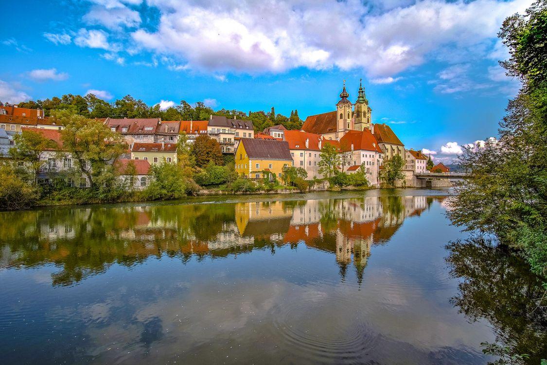 Фото бесплатно Верхняя Австрия, Oberosterreich, Австрия, город