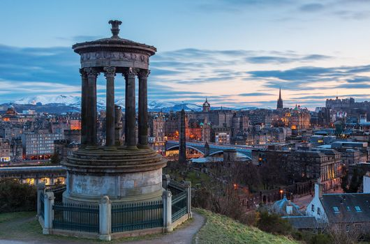 Photo of the hill in the centre of edinburgh, calton hill without registration