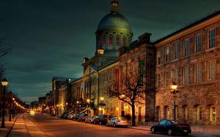 Бесплатные фото ночь, улица, машины, фонари, свет, дома, здания