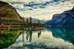 Фото бесплатно закат, озеро, горы