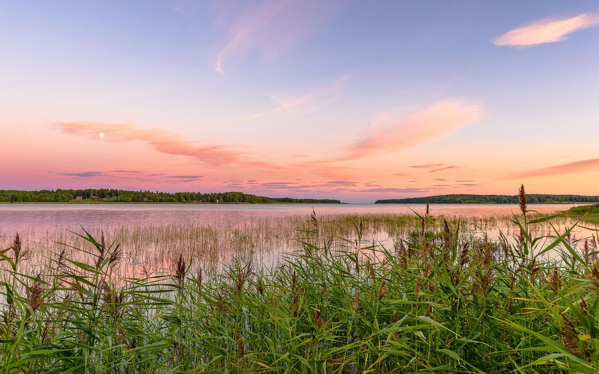 Фото бесплатно Карлстад, Вермланда, Швеция, Природа, Пейзаж, морской пейзаж, закат, пейзажи