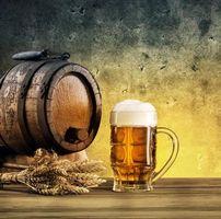 Фото бесплатно бочка, пиво, колосья
