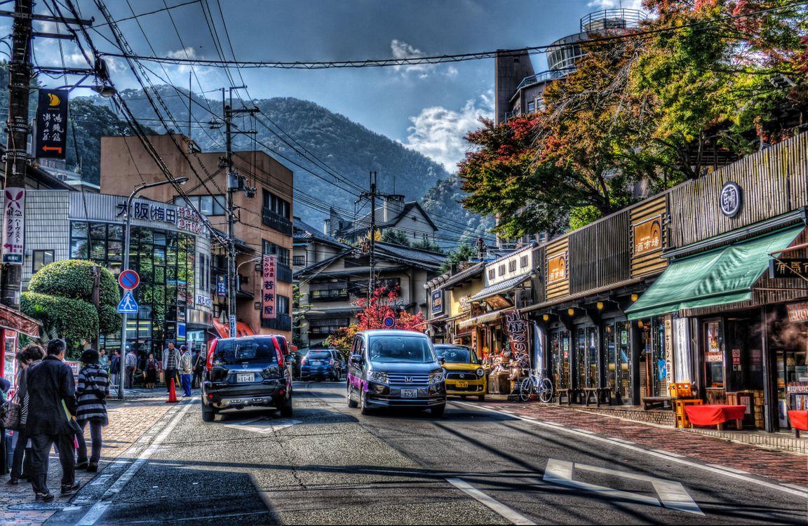 Фото бесплатно Кобе, Япония, город, архитектура, улица, машины, город