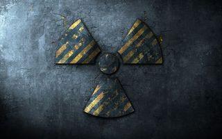 Бесплатные фото знак,опасность,радиация,стена