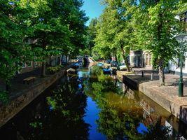 Бесплатные фото Алкмар,Нидерланды,Голландия,канал