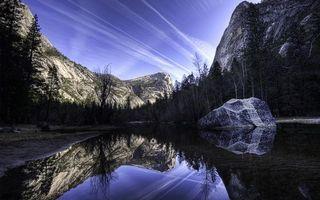 Бесплатные фото озеро,гладь,отражение,берег,деревья,горы,скалы