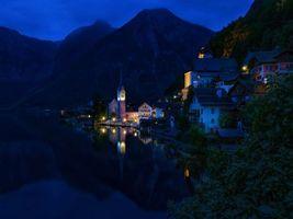 Фото бесплатно Озеро Гальштат, Hallstatt, горы