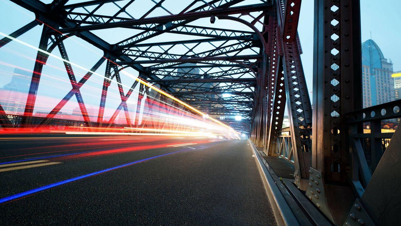 Обои мост, конструкция, дорога картинки на телефон