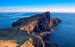 Фото бесплатно Маяк Нейст Поинт, Шотландия, Скай Айленд