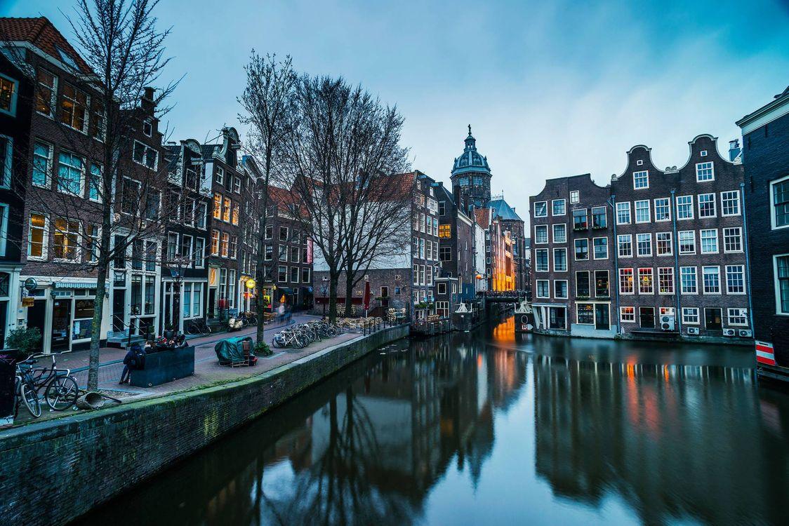 Фото бесплатно Амстердам, расположенный в провинции Северная Голландия, панорама Голландии - на рабочий стол