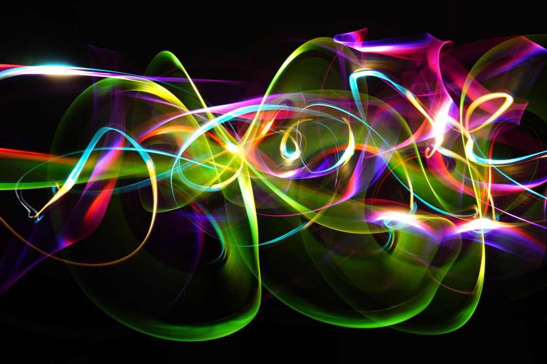 Абстракция круги · бесплатное фото