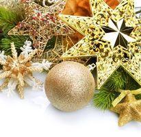 Фото бесплатно Рождество, новогодние украшения, фон