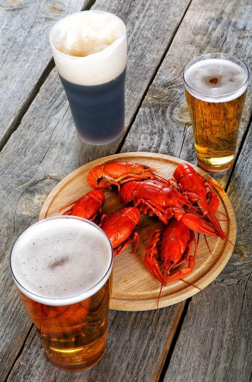 Фото бесплатно Раки, пиво, продукты - на рабочий стол