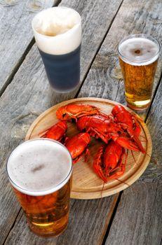 Фото бесплатно Раки, пиво, продукты