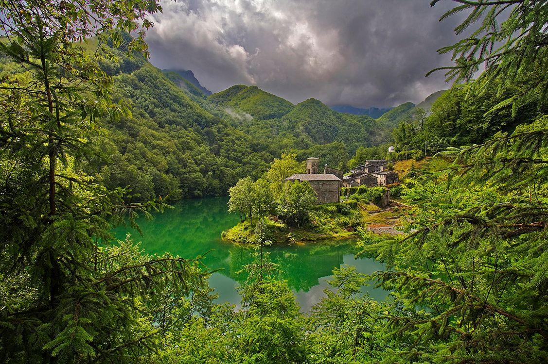 Фото бесплатно Lago Isola Santa, Tuscany, Italy, Озеро, Тоскана, Италия, пейзажи