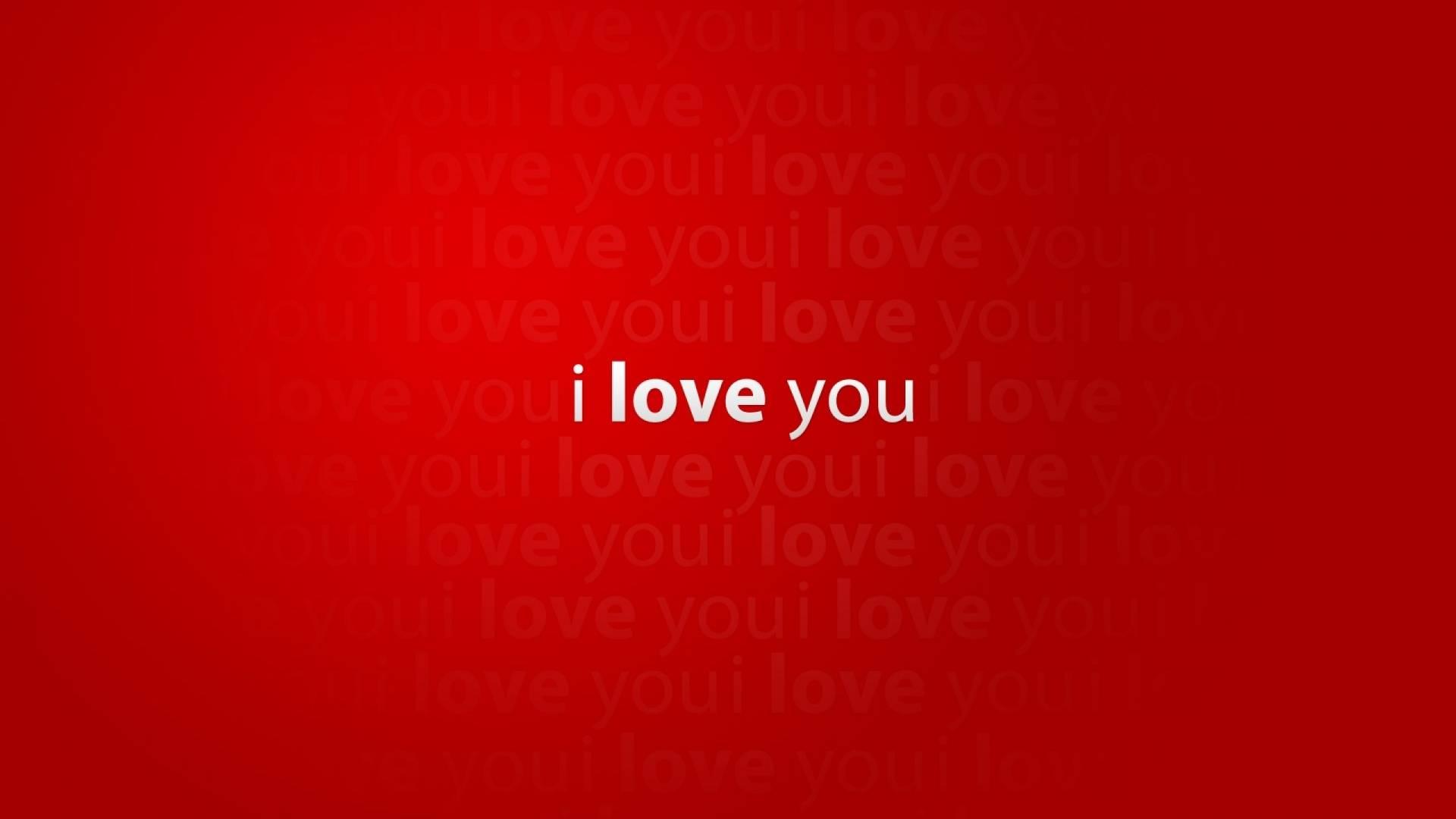 Обои i love you, надпись, красный, фон