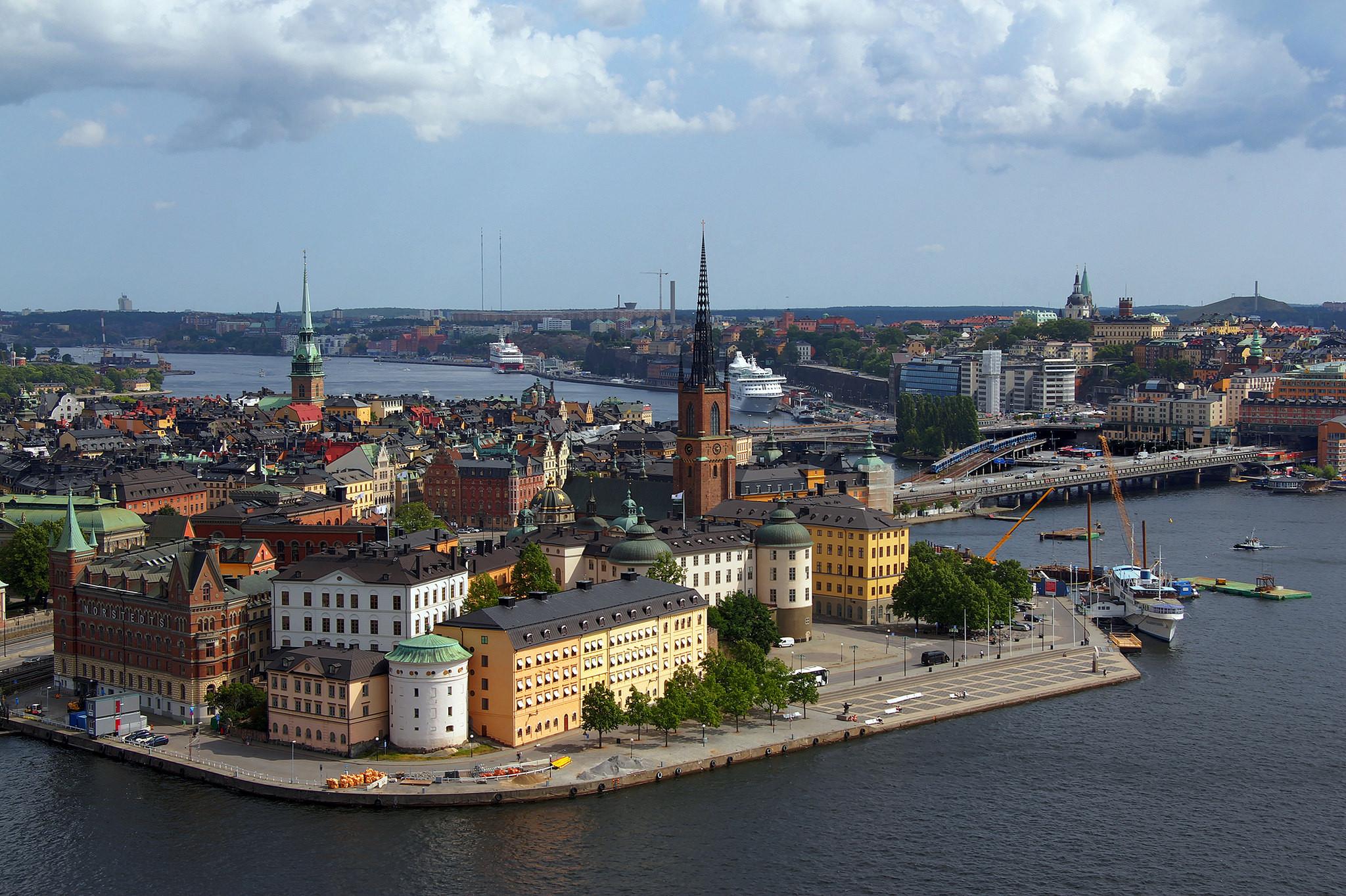 обои Stockholm, Sweden, Riddarholmen, Gamla stan картинки фото