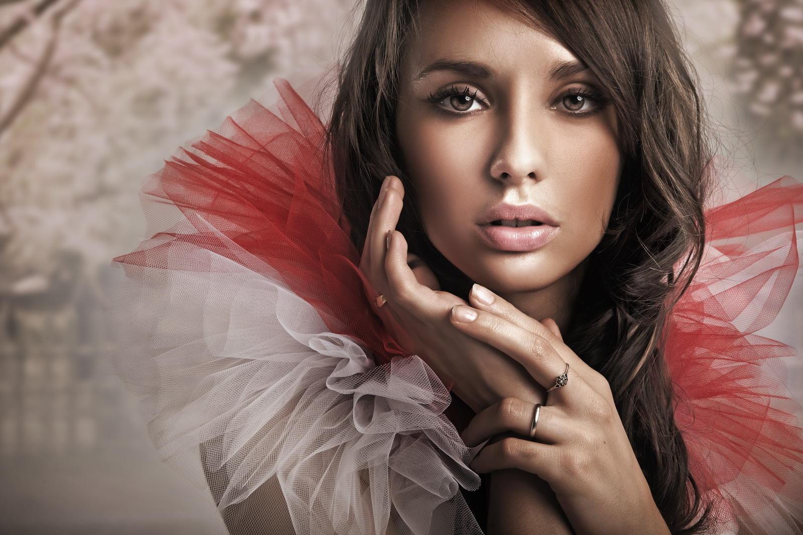 обои девушка, макияж, взгляд, Анна Субботина картинки фото