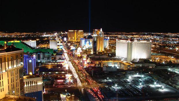 Фото бесплатно здания, огни, ночь