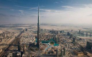 Бесплатные фото Дубаи, башня Бурдж Халифа, дома, высотки, дороги, небо