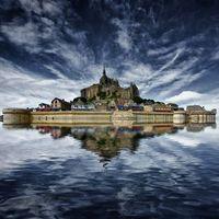 Франция, Мон-Сен-Мишель, Mont Saint Michel, остров, крепость