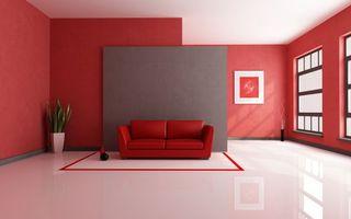 Фото бесплатно комната, красная, дизайн