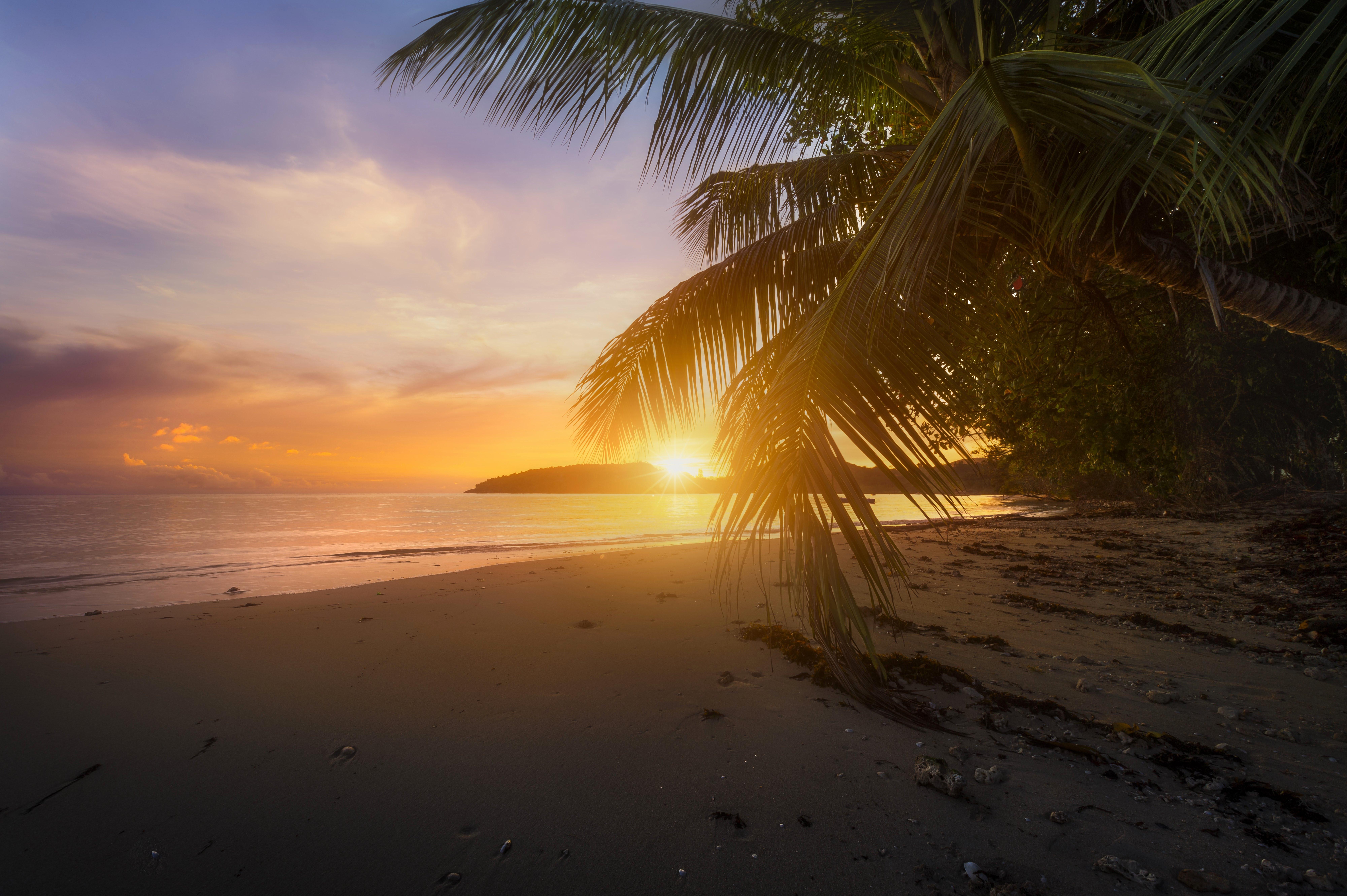 обои Порт Буало, Сейшельские острова, море, закат картинки фото