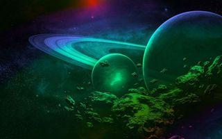 Фото бесплатно планеты, невесомость, созвездия