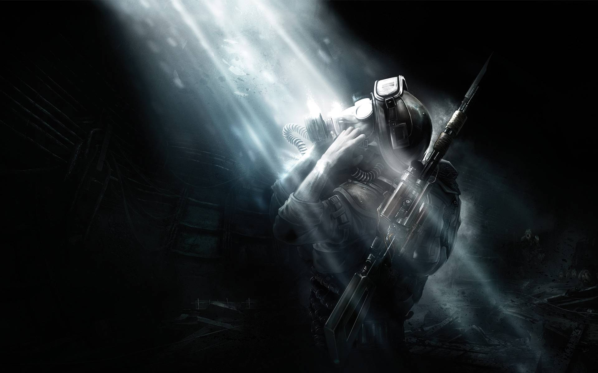 Обои Metro: Last Light, солдат, оружие, свет