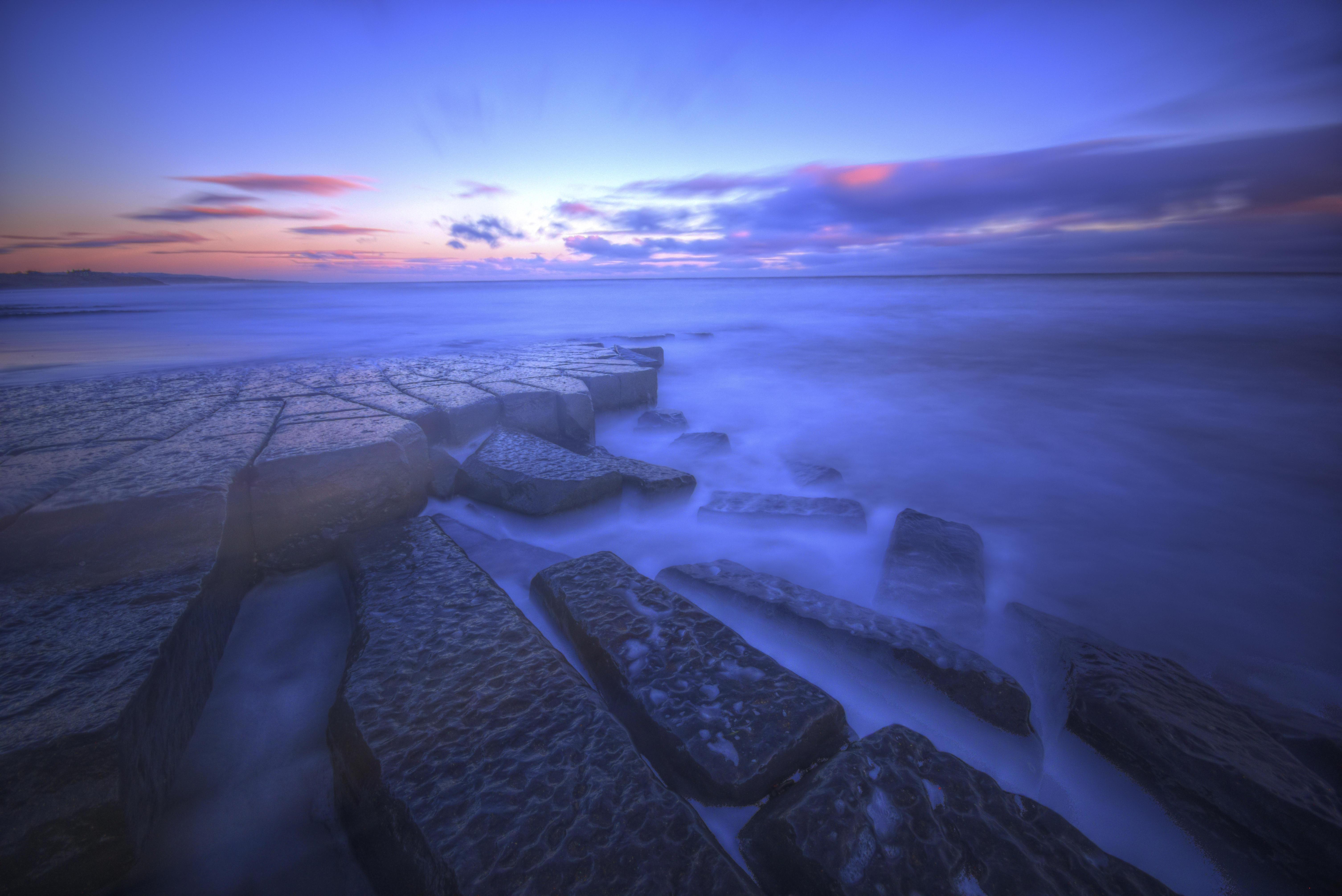 Обои морской пейзаж, Северное море, Нортумберленд, Северо-Восточная Англия