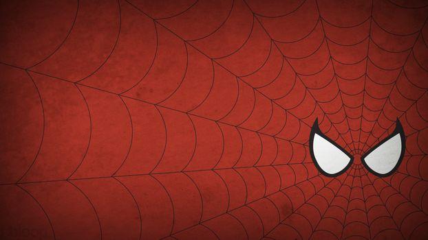 Бесплатные фото минимализм,человек-паук,паутина,рисунок,spider-man