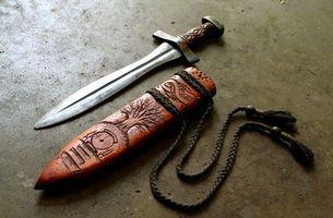 Бесплатные фото нож, старинный, резьба, дерево, рукоять, шнурки, оружие