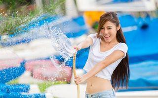 Фото бесплатно азиатские, глаза, вода