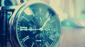 Обои часы, мужские, циферблат, стрелки, время, секунды, цифры, числа, ремешок, браслет, хронограф, royal