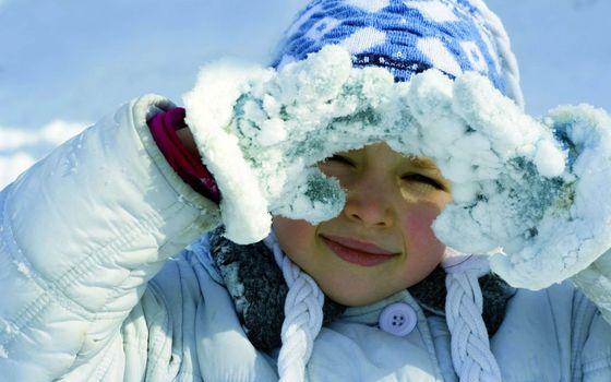 Photo free girl, photo, winter