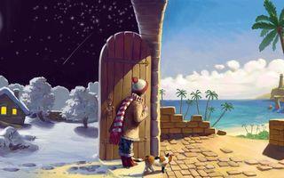 Бесплатные фото девочка,зимняя,одежда,зима,дверь,теплые,края