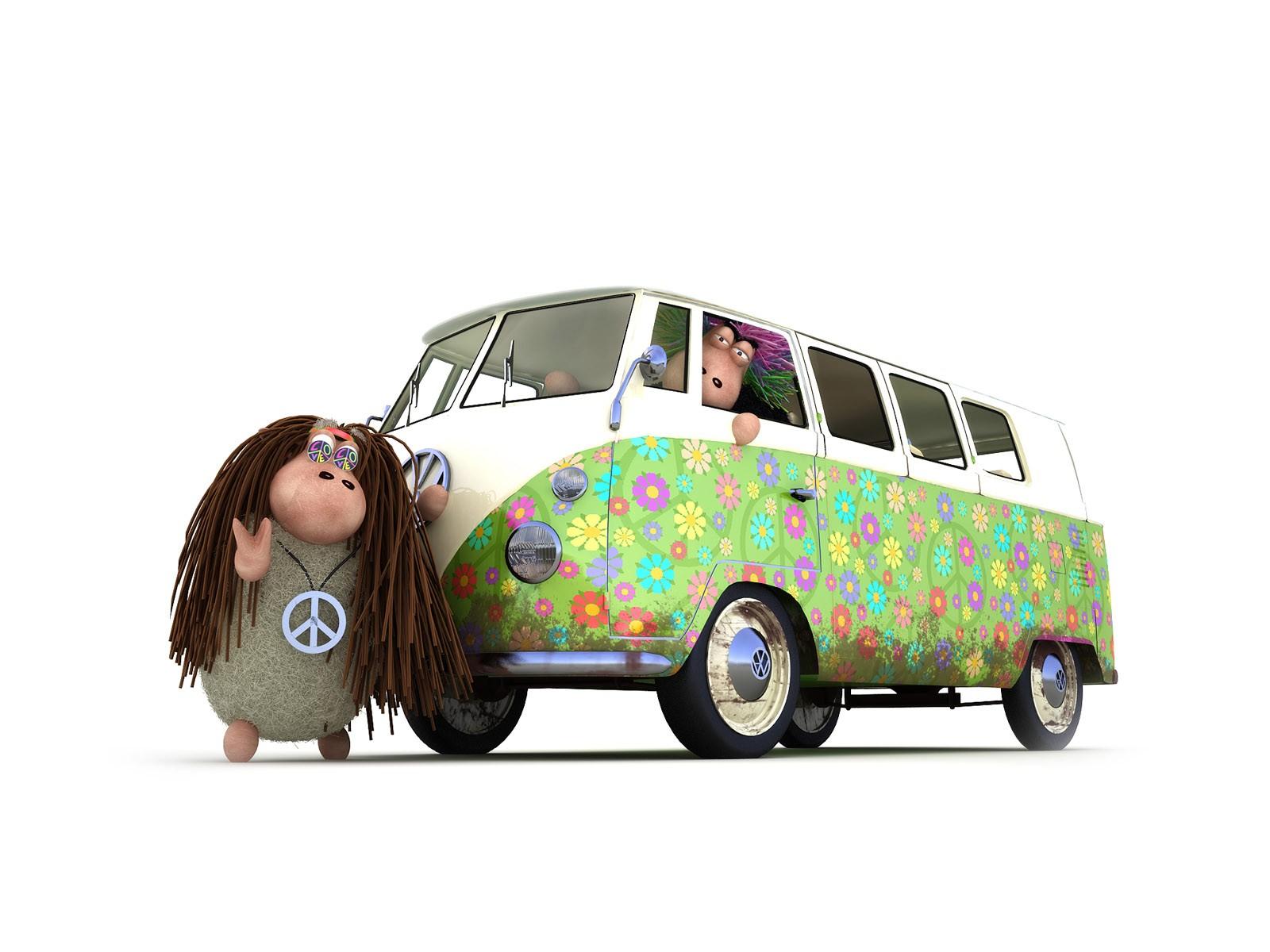 фольксваген, колеса, автобус
