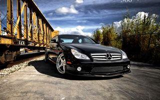 Photo free Mercedes, black, grille