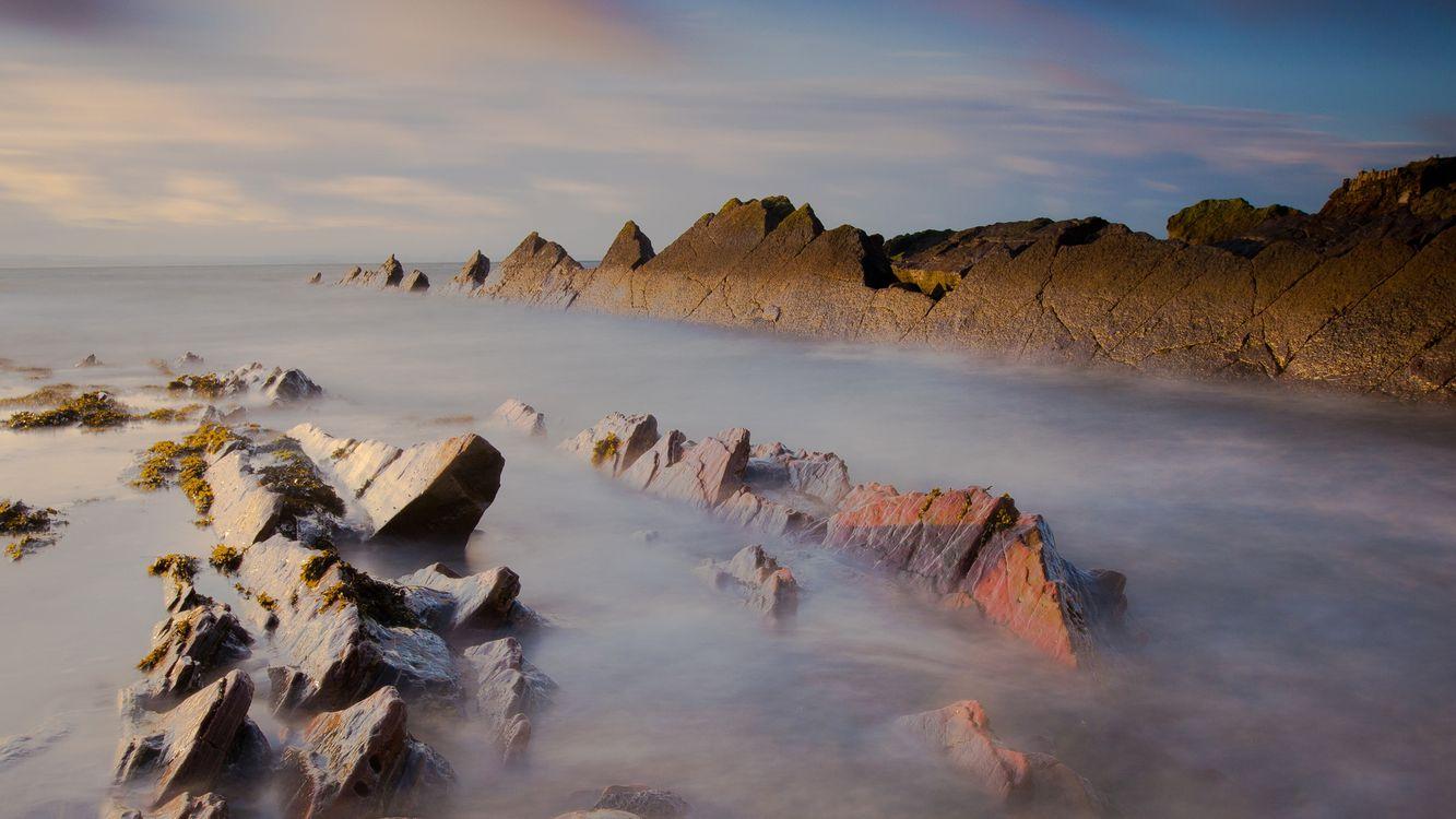 Фото бесплатно мох, камни, небо - на рабочий стол