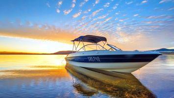 Фото бесплатно море, солнце, лодка