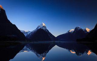 Бесплатные фото море,океан,вода,горы,вершины,снег,уступы