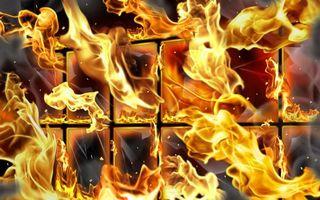 Фото бесплатно огонь, окно, пылает
