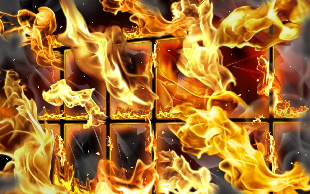 Фото бесплатно огонь, окно, пылает - на рабочий стол