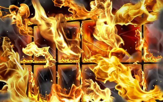 Бесплатные фото огонь,окно,пылает,пожар,графика,рисунок,картинка,рама,искры,3d графика,абстракции,разное