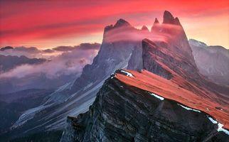 Фото бесплатно пейзаж, горы, закат